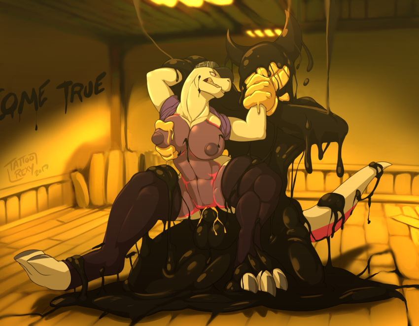 bendy the machine anime ink and Flower knight girl sex scene