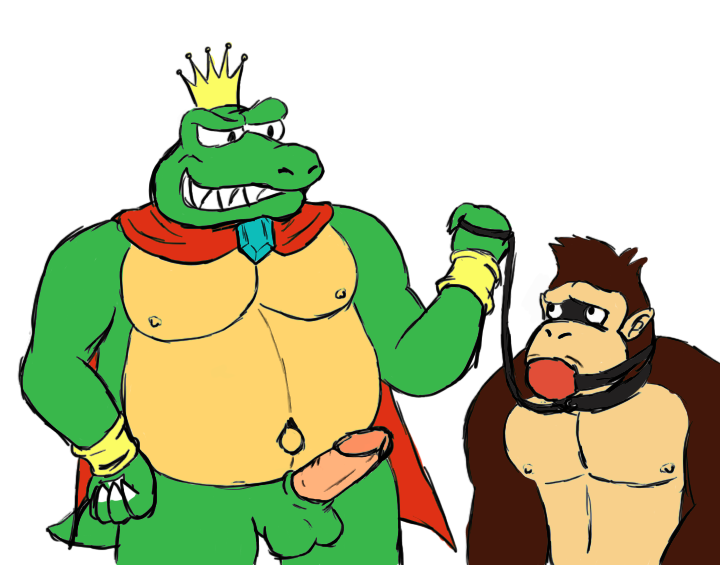 it donkey kong may spank you once Futa cum in own mouth